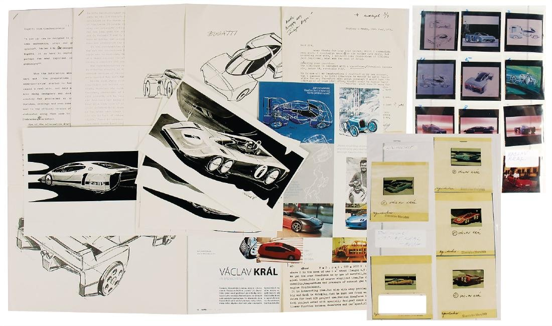 VACLAV KRAL/BUGATTI extensive mixed lot from the