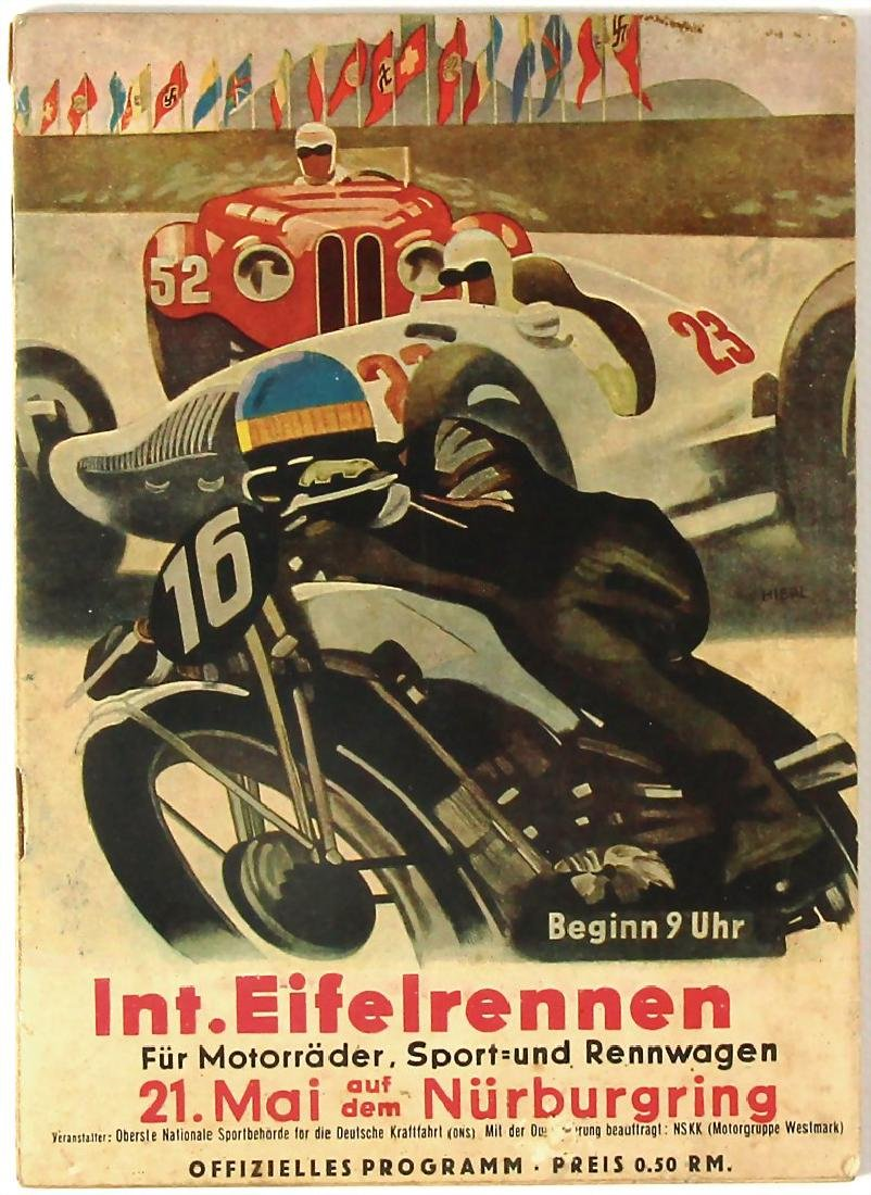 programme booklet international Eifel-race Nürburgring