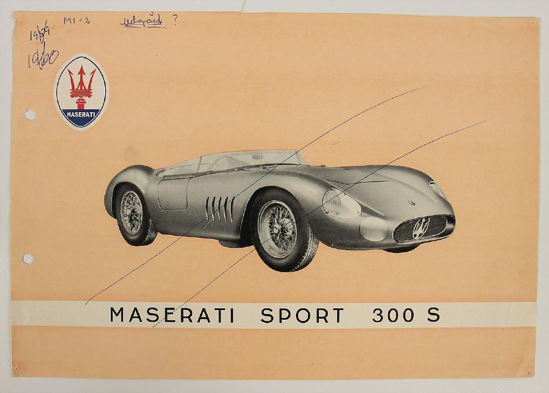 MASERATI flyer 1957, Maserati Sport 200 SI, punched,