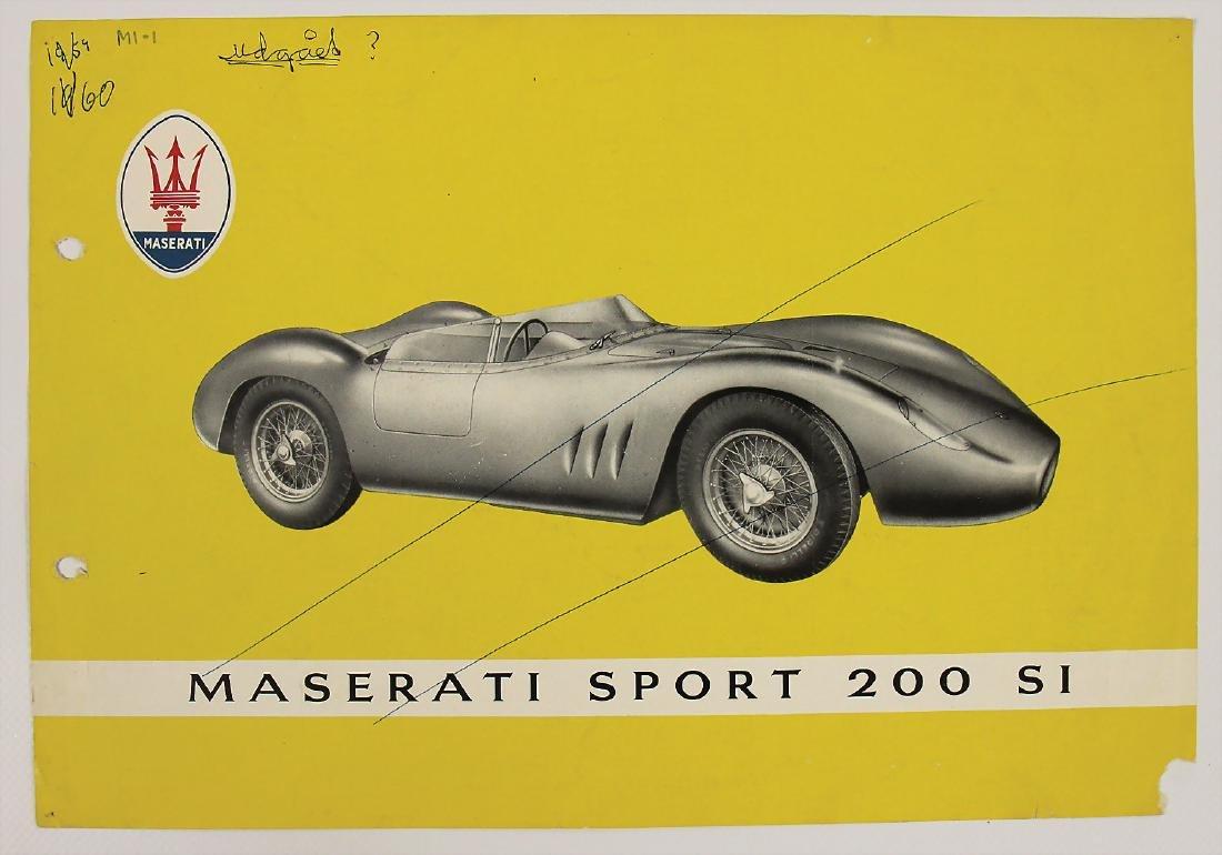 MASERATI flyer 1957, Maserati Sport 200 SI, punched, - 2
