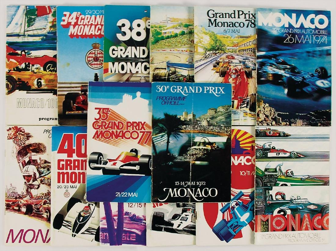 mixed lot with 14 issues racing programme Grand Prix