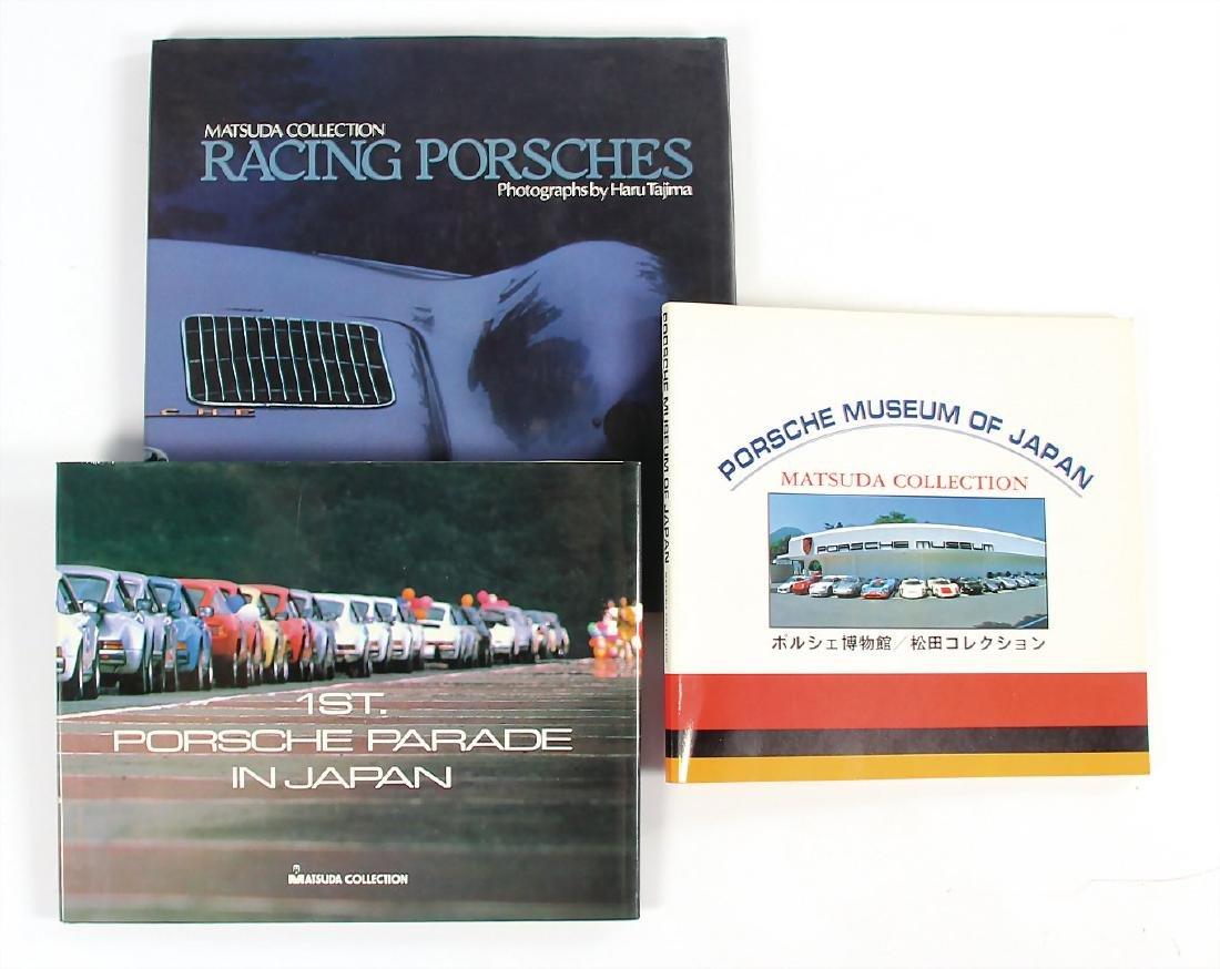 """MATSUDA COLLECTION mixed lot of 3 books, """"Porsche"""