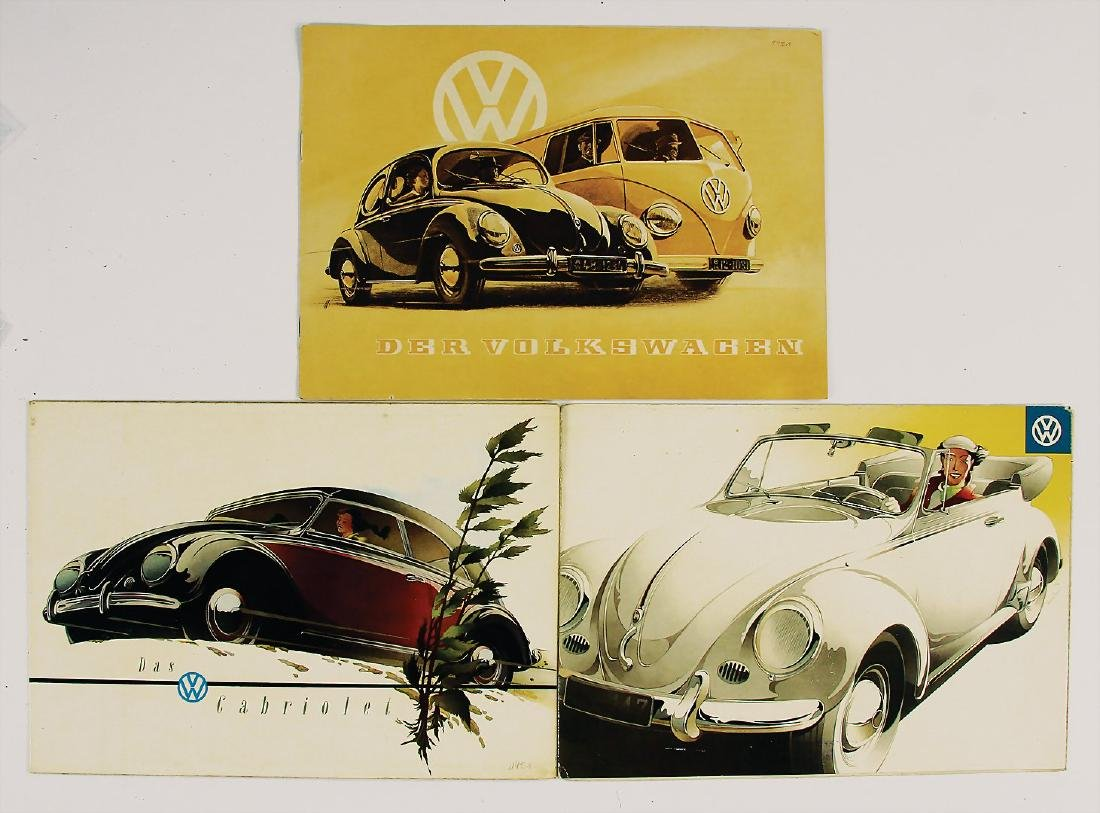 VOLKSWAGEN mixed lot with 3 pieces, folders/sales