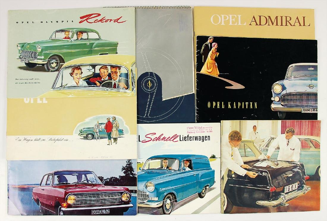OPEL folders/sales brochures, among it Opel delivery