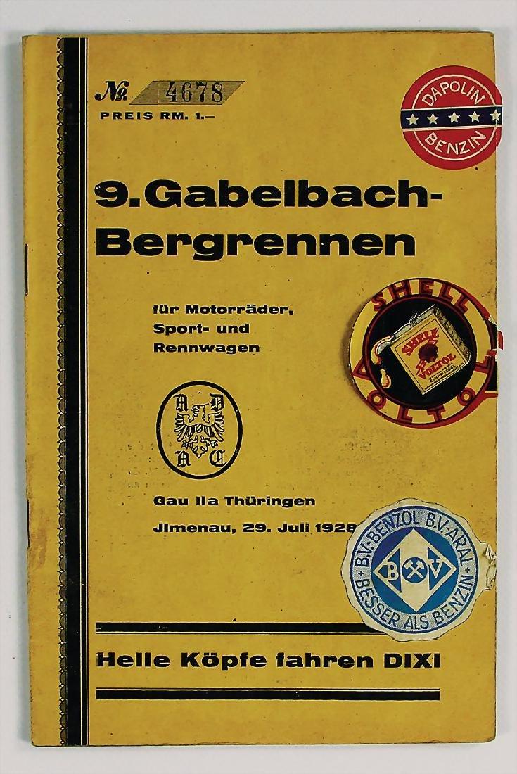 9. Gabelbach-Bergrennen for motorbikes, sport and