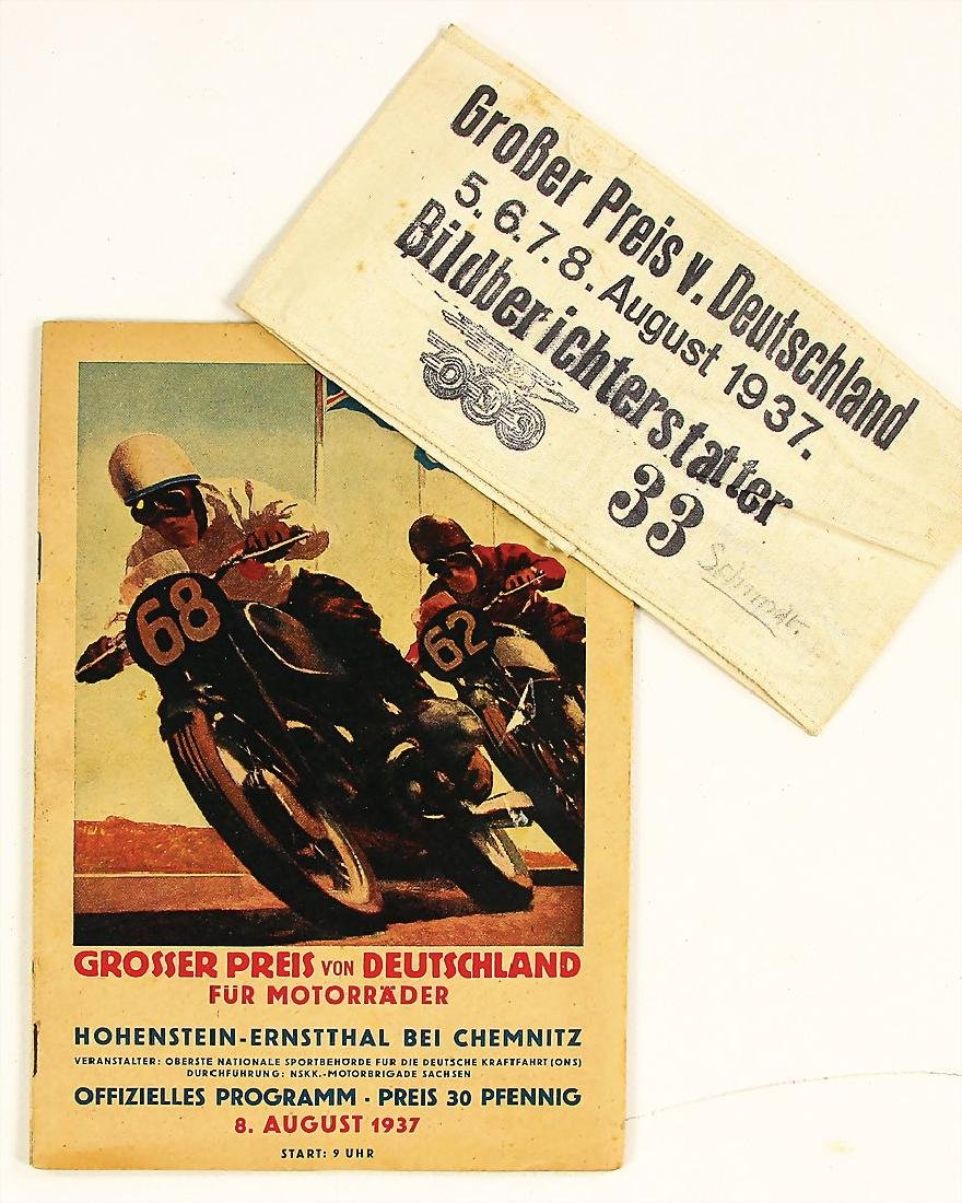 racing programme Grand Prix of Germany for motorbikes