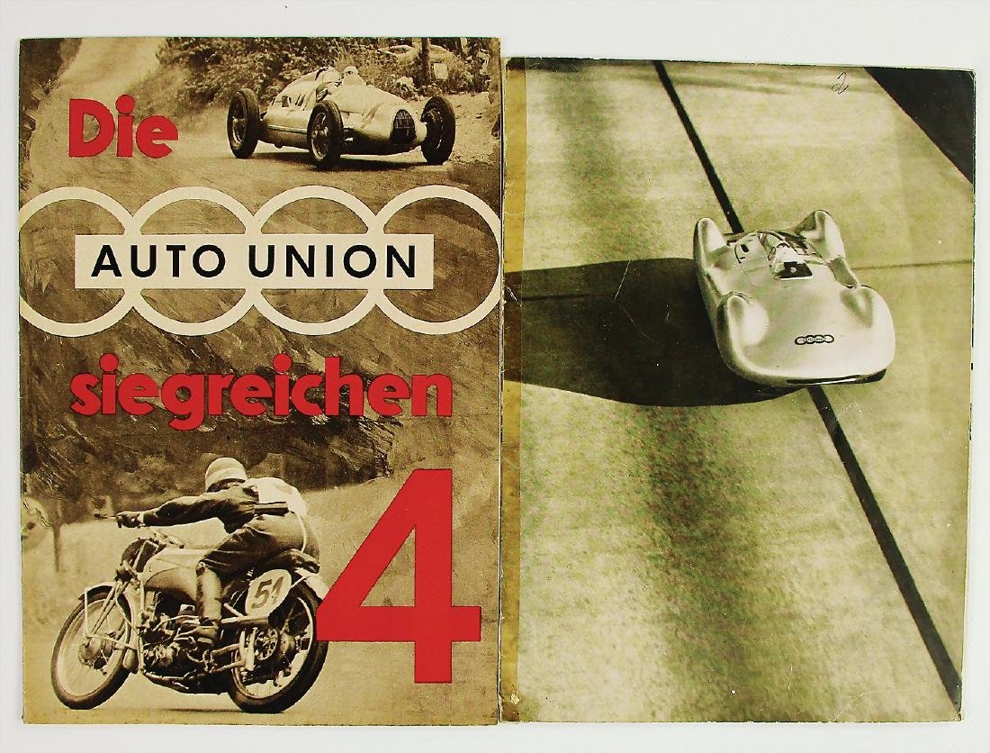 """AUTO UNION mixed lot with 2 pieces, brochure: """"Die Auto"""