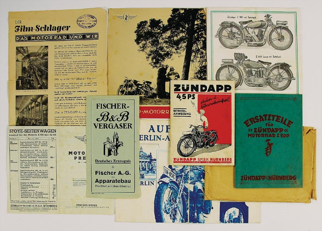 ZÜNDAPP mixed lot with 8 pieces, sales