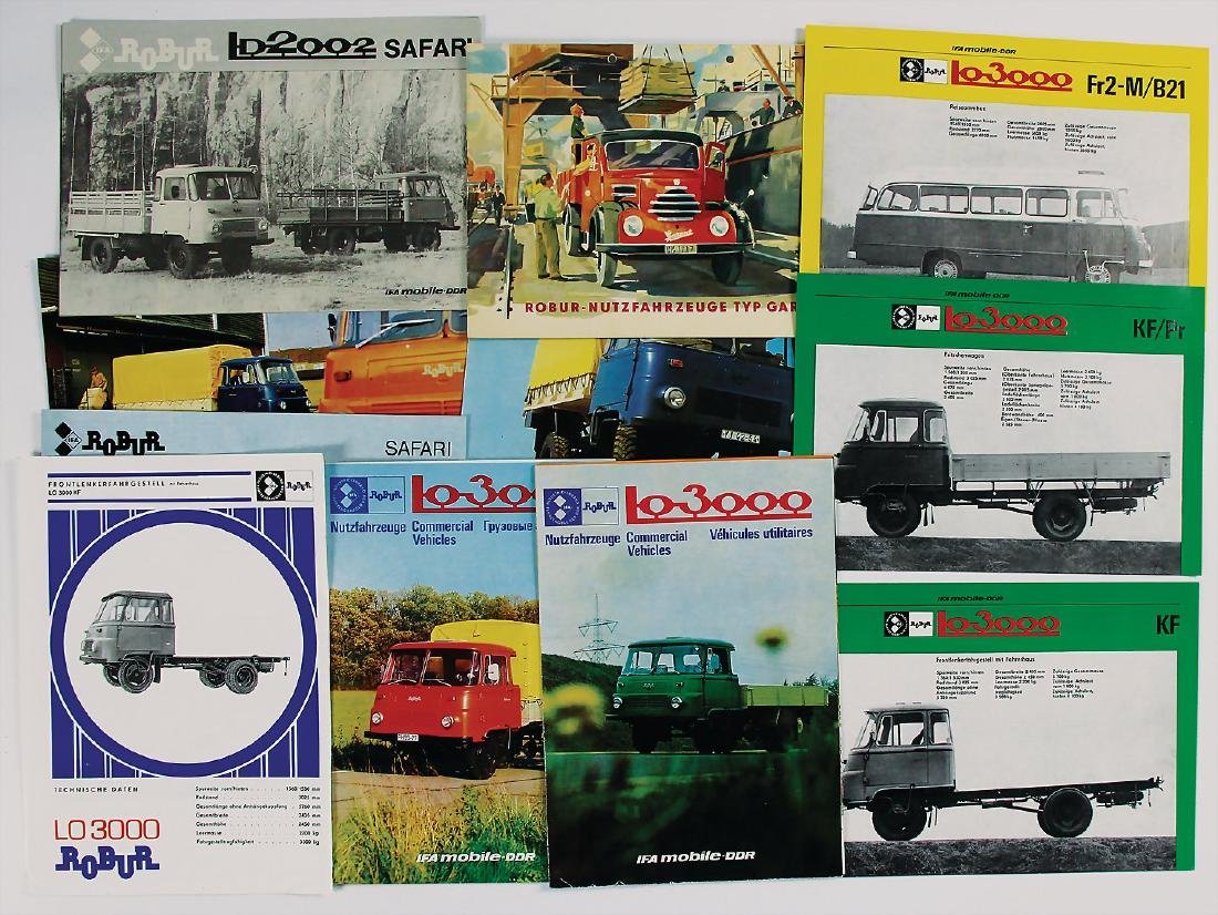 ROBUR mixed lot with 14 pieces, brochures/leaflets,