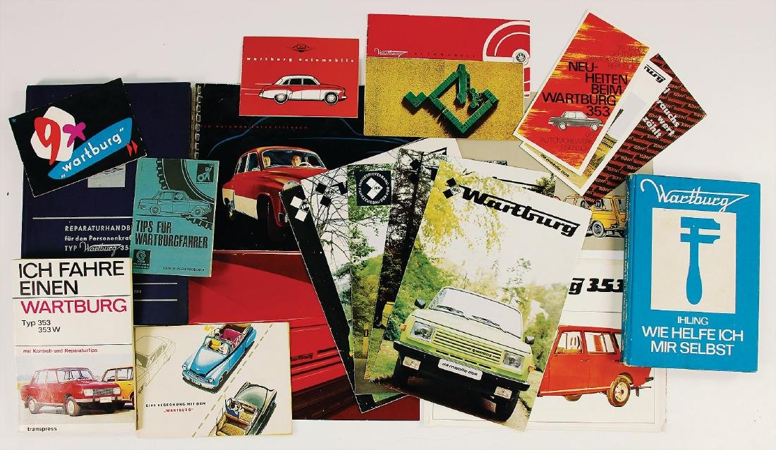 WARTBURG mixed lot with 25 pieces, sales