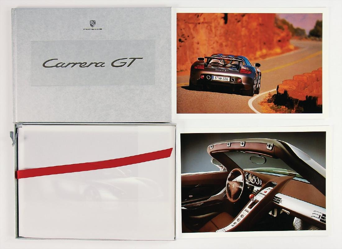 PORSCHE press kit for Carrera GT, 45 pages, with