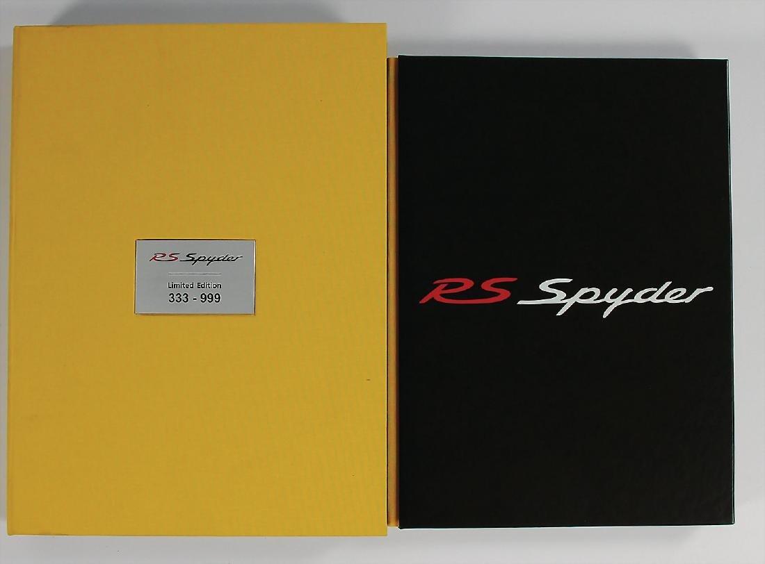 "PORSCHE book: ""Porsche RS Spyder"", limited edition,"