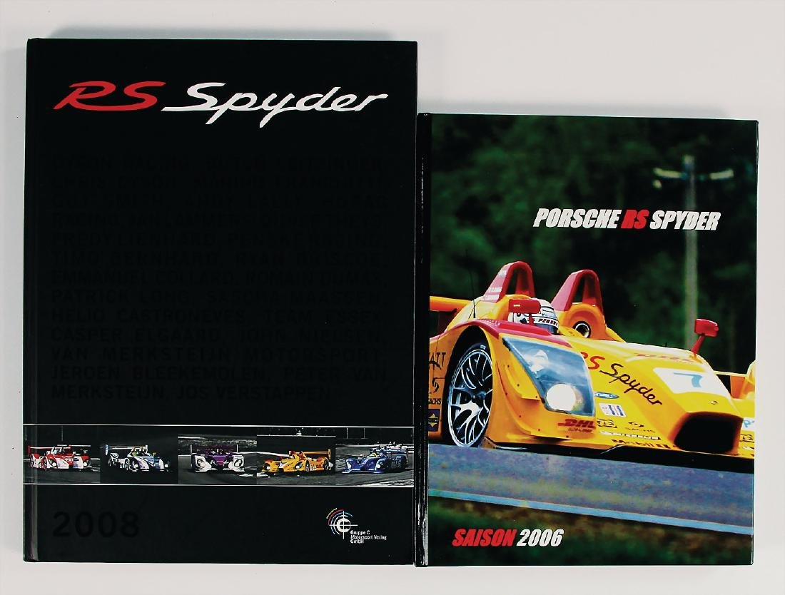 "PORSCHE mixed lot with 2 pieces, books: ""Porsche RS"