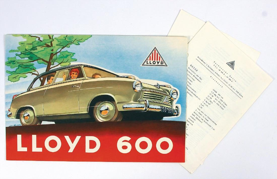 LLOYD mixed lot with 3 pieces, fold-out brochure Lloyd