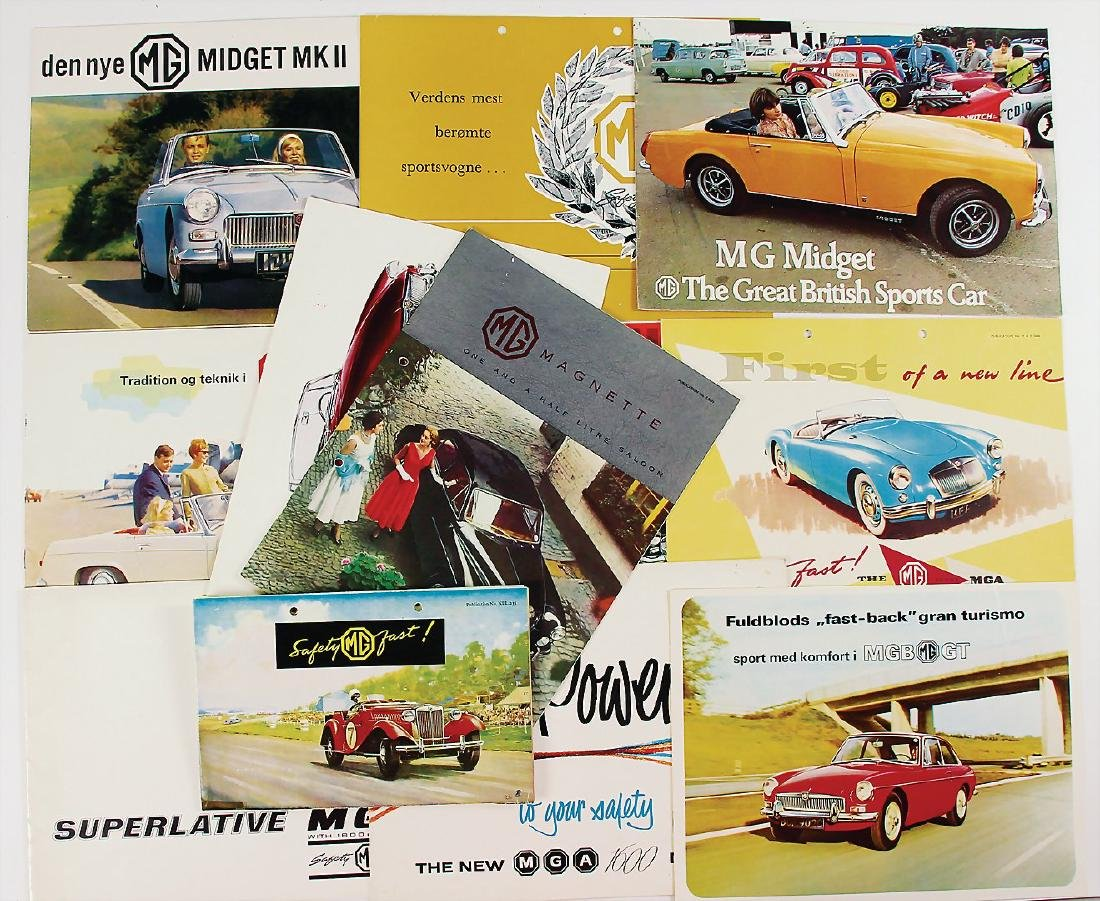 MG mixed lot with 12 pieces, among it sales brochure MG