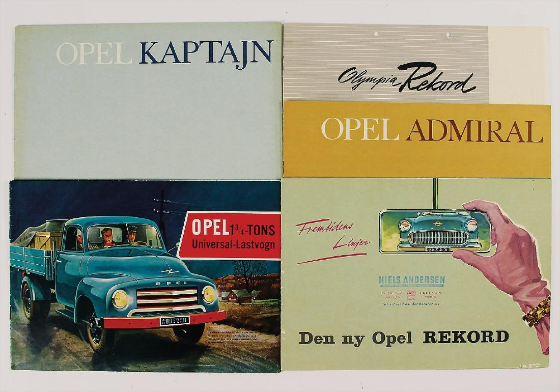 OPEL mixed lot with 5 pieces, among it sales brochure
