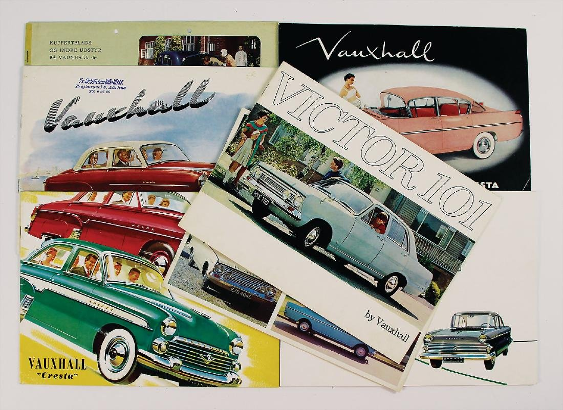 VAUXHALL mixed lot with 7 pieces, among it sales