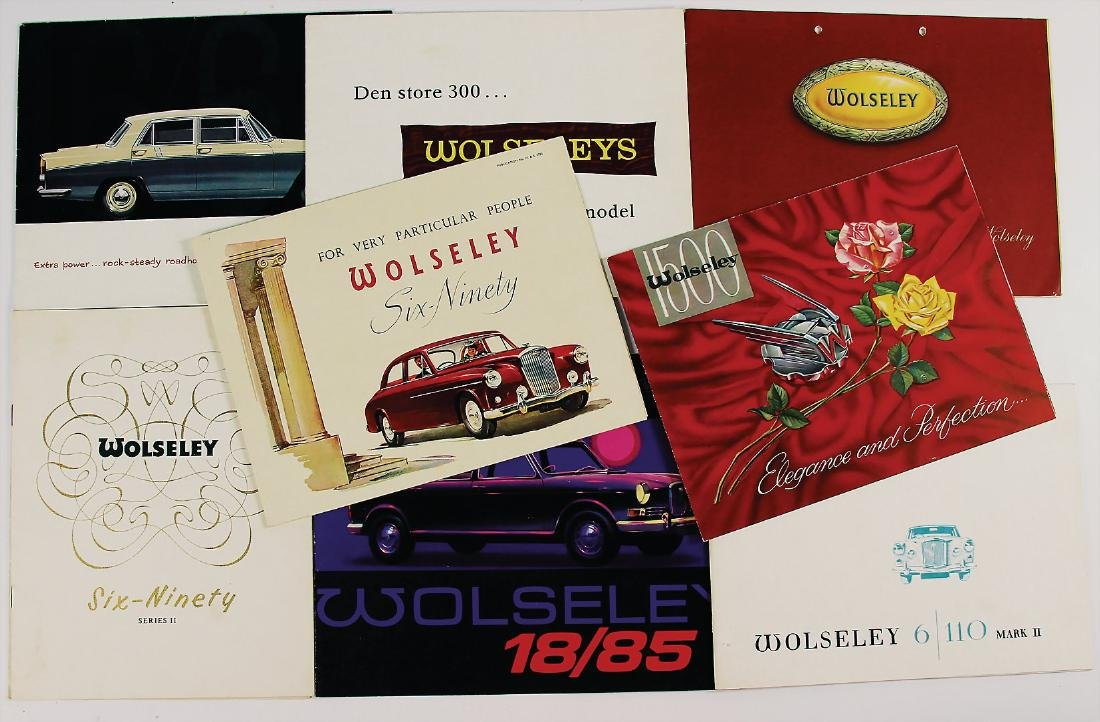 WOLSELEY mixed lot with 9 pieces, among it fold-out