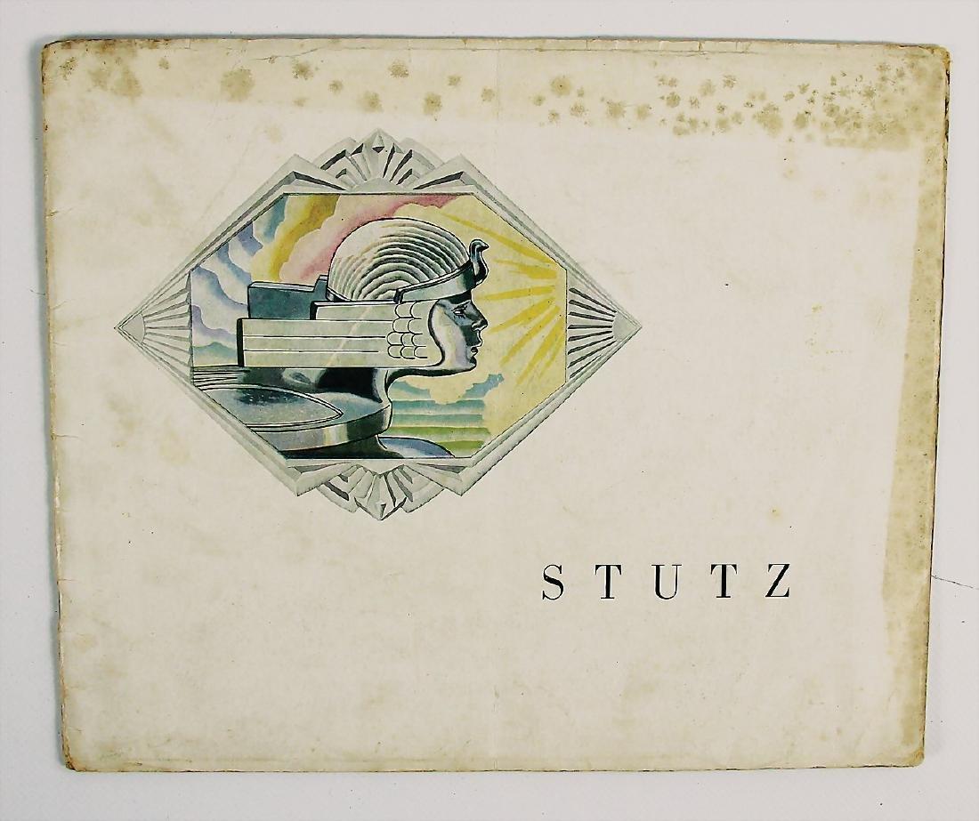 STUTZ sales folder/brochure Stutz from 1929, for