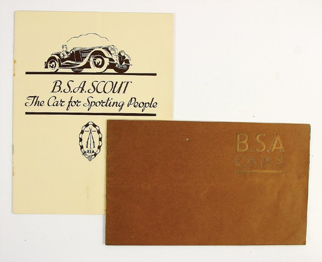B.S.A. mixed lot with 2 pieces, sales brochure B.S.A.