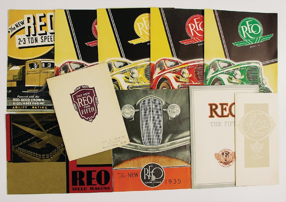 REO mixed lot with 10 pieces, consists of sales