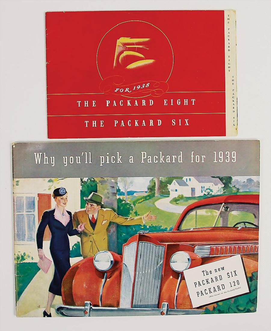 """PACKARD mixed lot with 2 pieces, sales brochure """"The"""