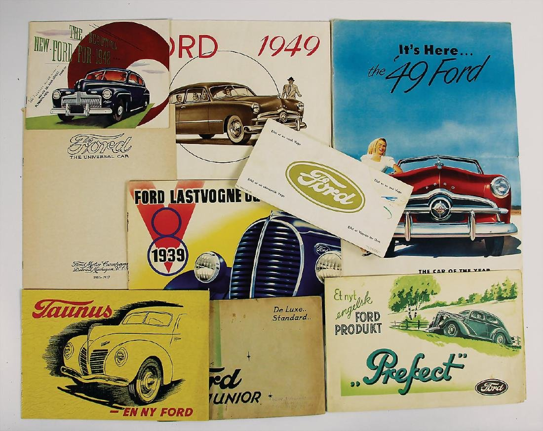 FORD mixed lot with 9 pieces, consists of sales