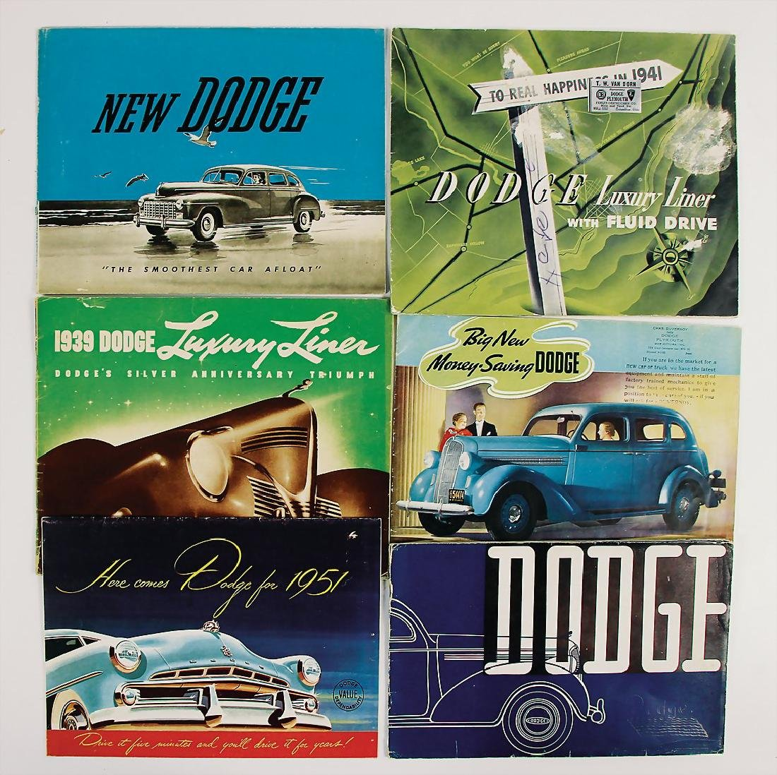 DODGE mixed lot with 6 pieces, sales