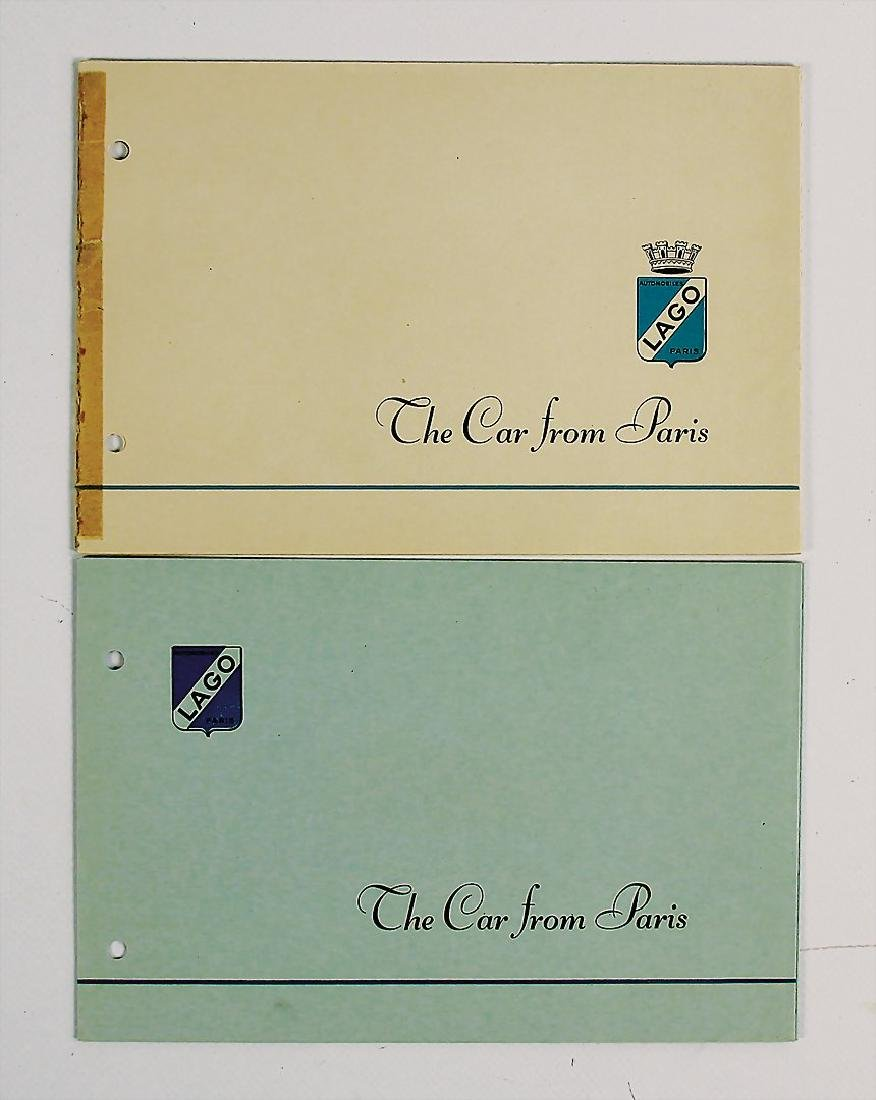 TALBOT LAGO mixed lot with 2 pieces, sales brochure