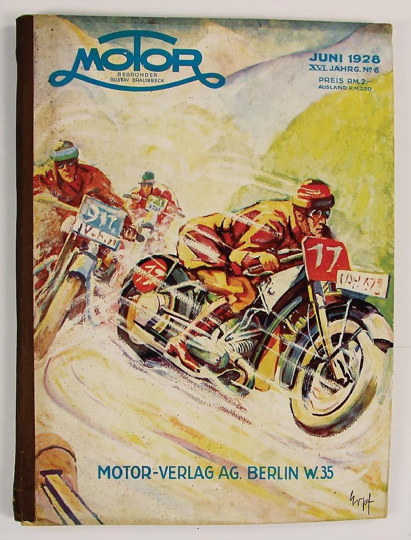 "magazine ""Motor"", publisher Gustav Braunbeck, issue"