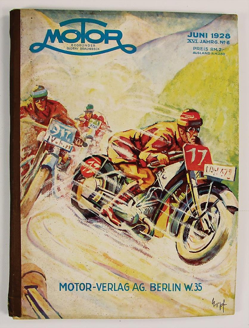 "magazine ""Motor"", publisher Gustav Braunbeck, issue"