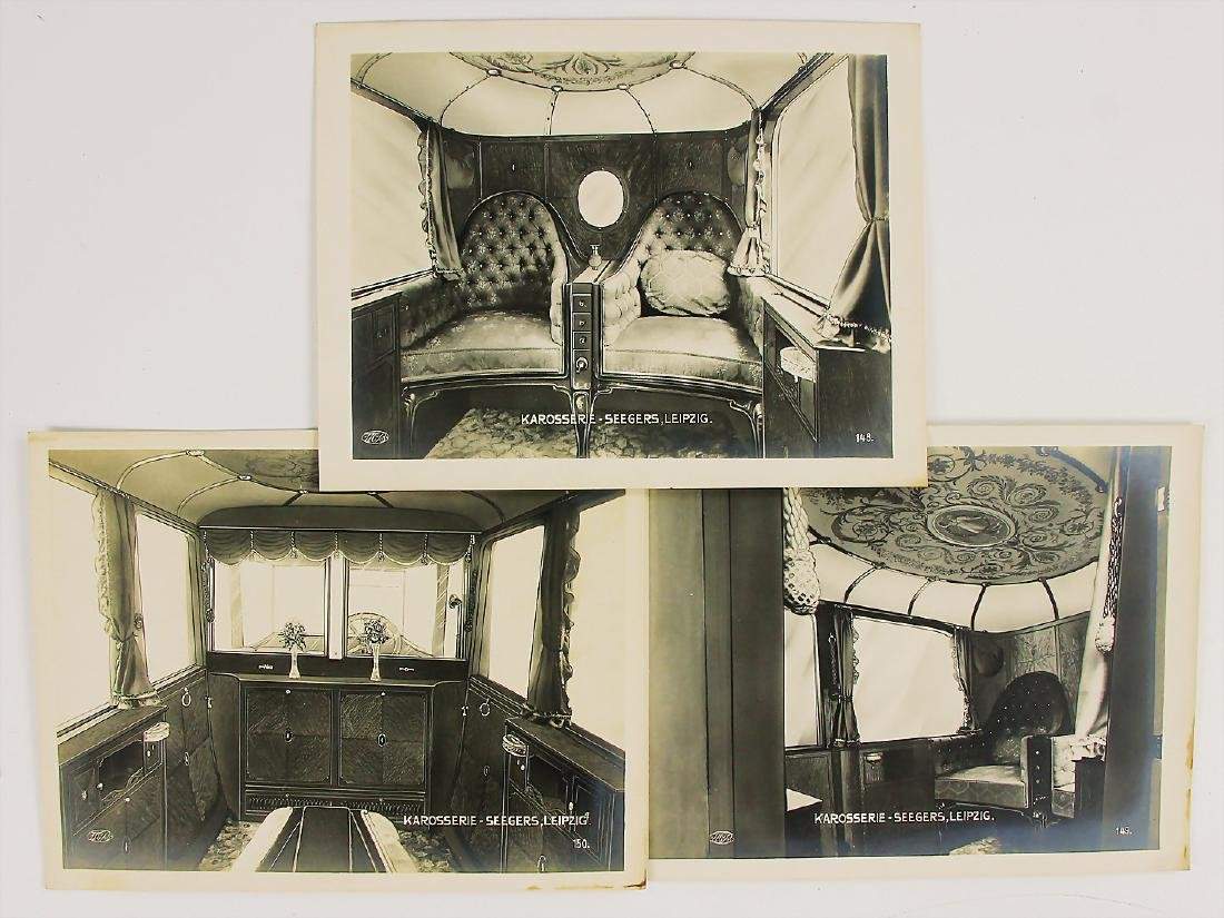 KAROSSERIE SEEGERS, LEIPZIG mixed lot of 3 original B/W