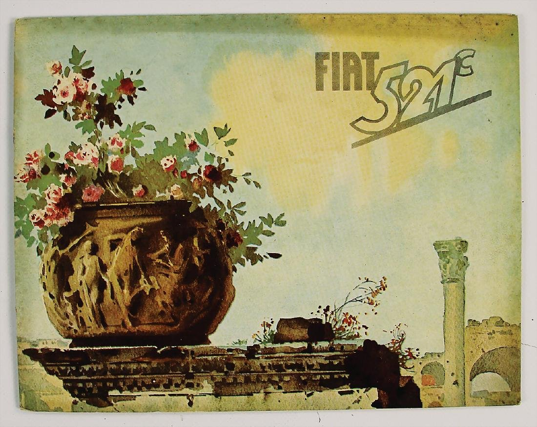 FIAT Germany 1930, sales catalog Fiat 521C, 28 pages,