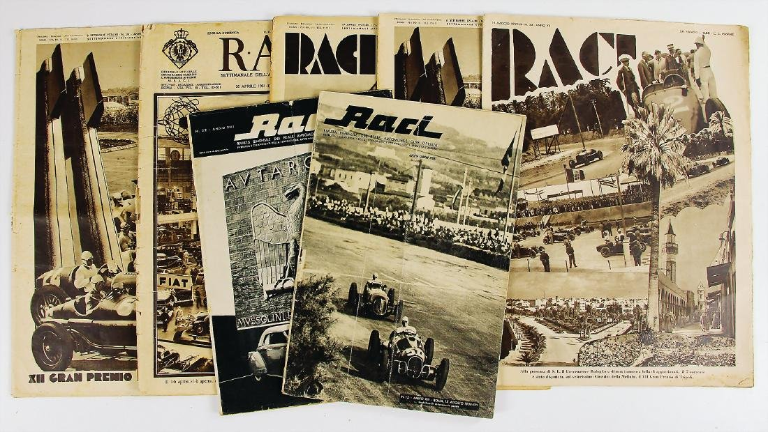 """R.A.C.I mixed lot with 7 pieces, magazine """"RACI"""", among"""