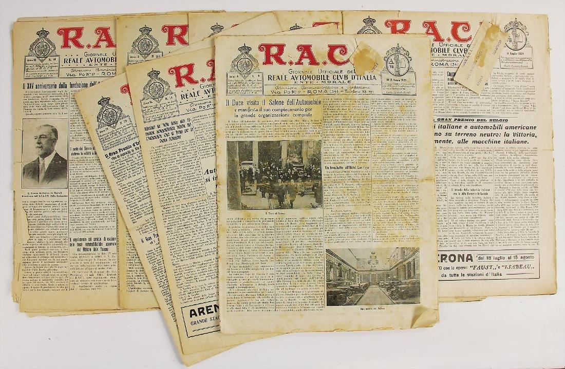 "R.A.C.I 1929, magazine ""RACI"", among it the editions 6,"