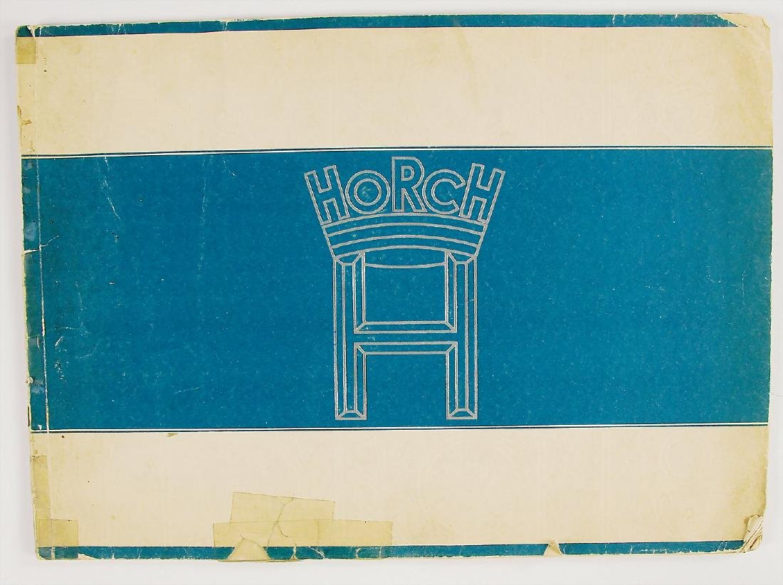 HORCH sales catalog Horch 8, 28 pages, with traces of