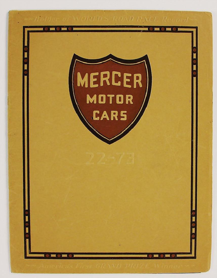 MERCER sales catalog Mercer Motorcars 22 - 74, 24 24