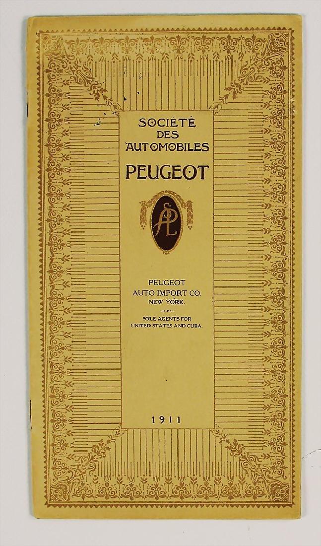 PEUGEOT 1911, sales catalog types 52 HP/43 HP/40 HP/38