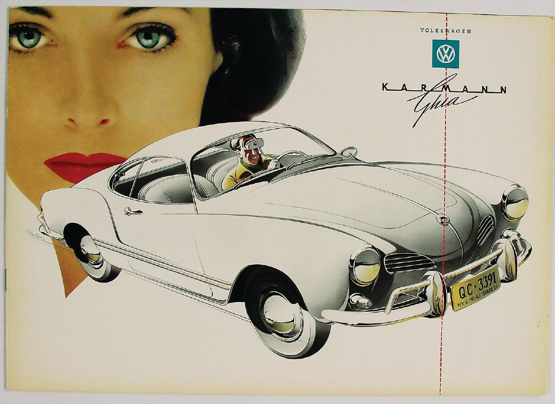 VOLKSWAGEN rare sales brochure Karmann Ghia, in