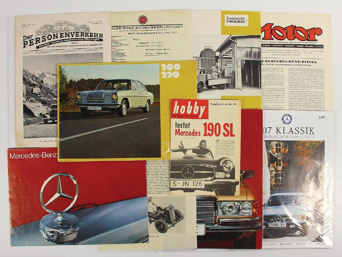 MERCEDES-BENZ mixed lot with 10 pieces, among it the