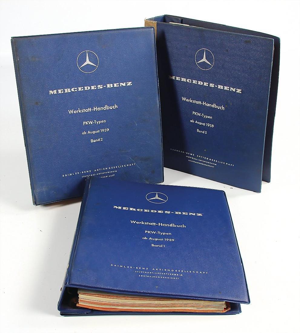 MERCEDES-BENZ mixed lot of 3 workshop manuals, volume 1