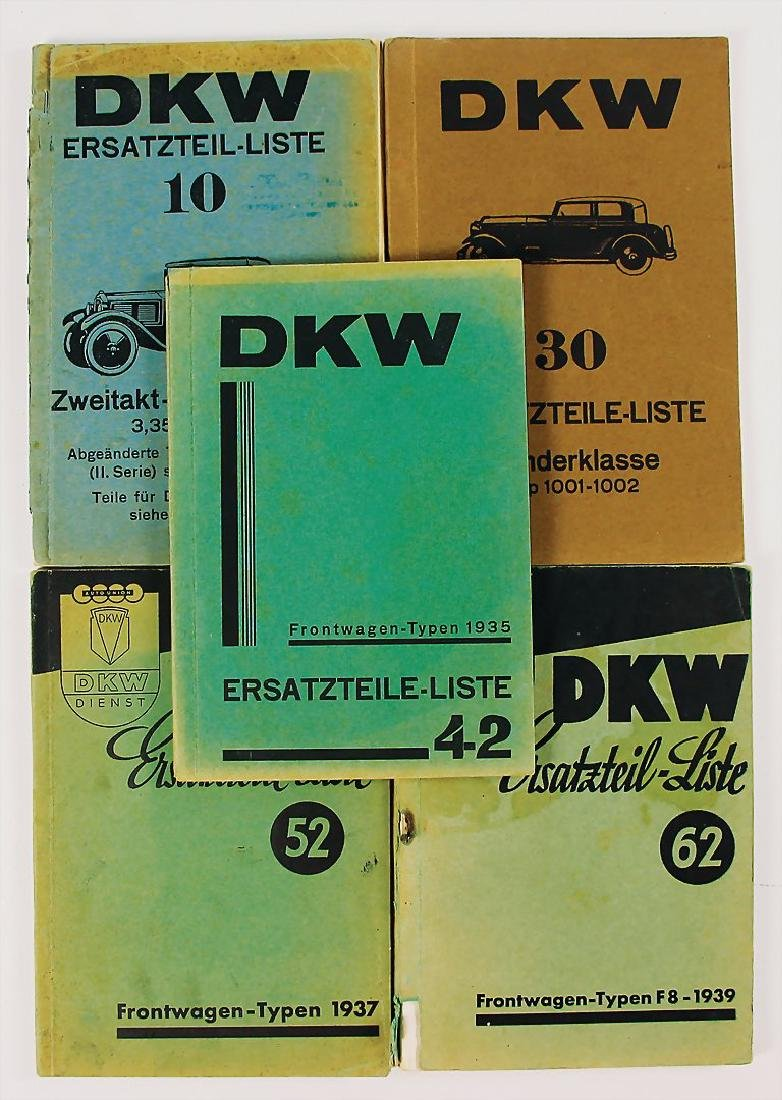DKW mixed lot with 4 pieces, replacement parts- ists,