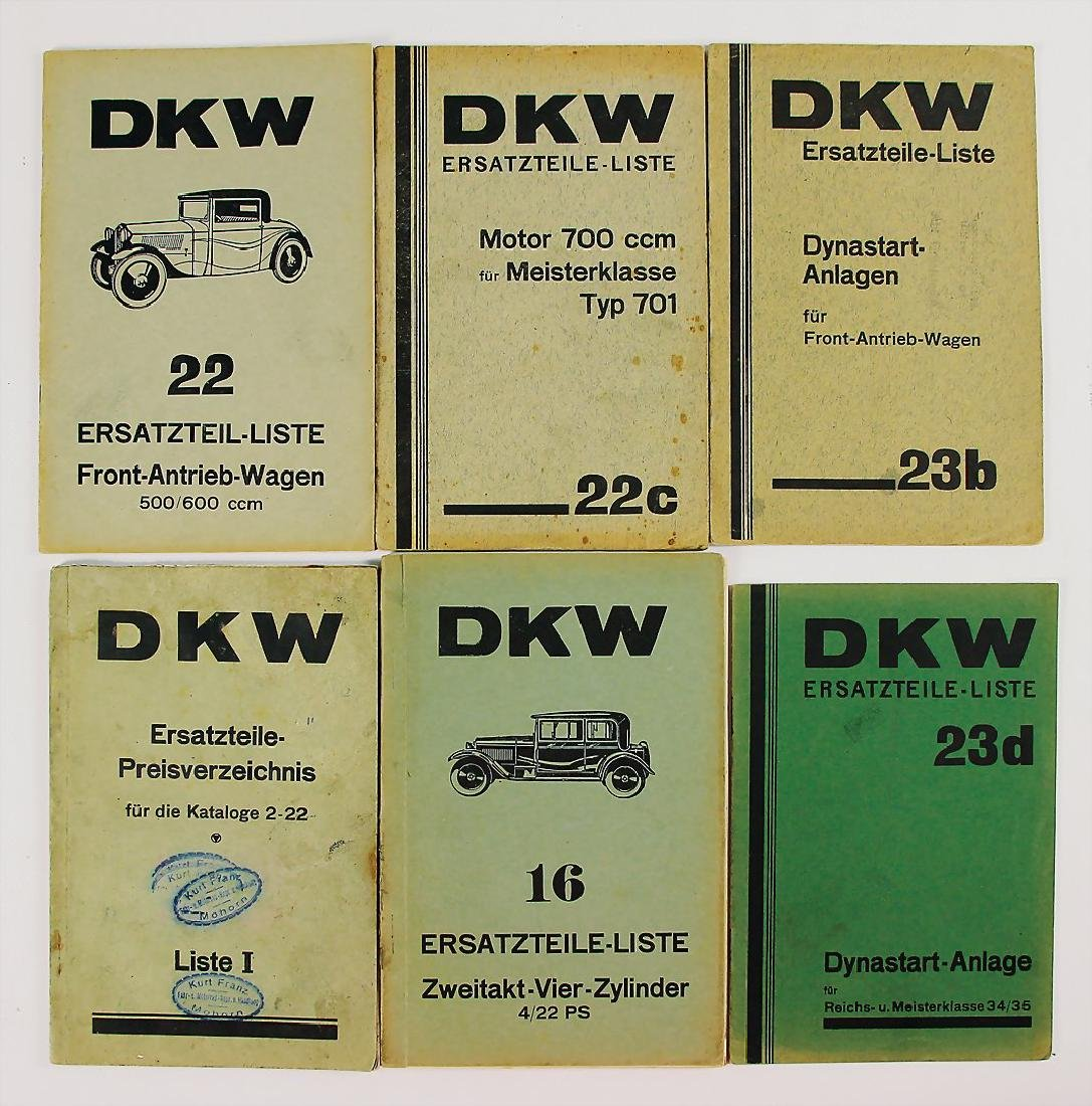 DKW mixed lot with 6 pieces, among it replacement parts