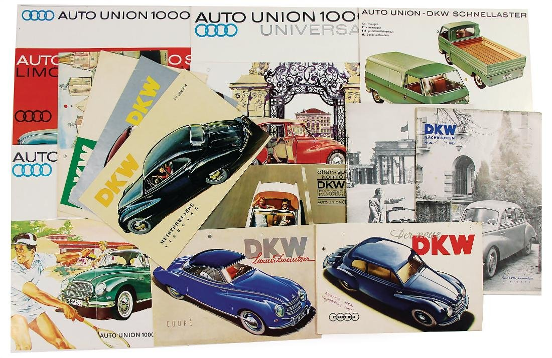 AUTO UNION/DKW mixed lot with 23 pieces, among it sales