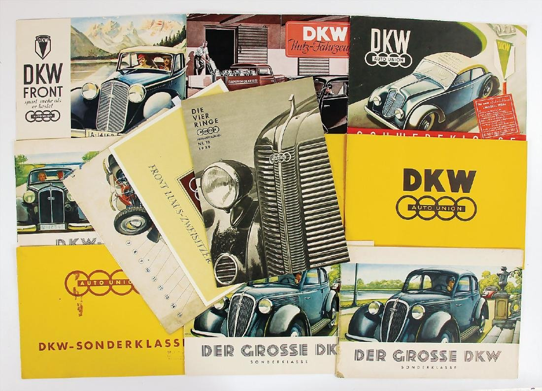 AUTO UNION/DKW mixed lot with 12 pieces, sales