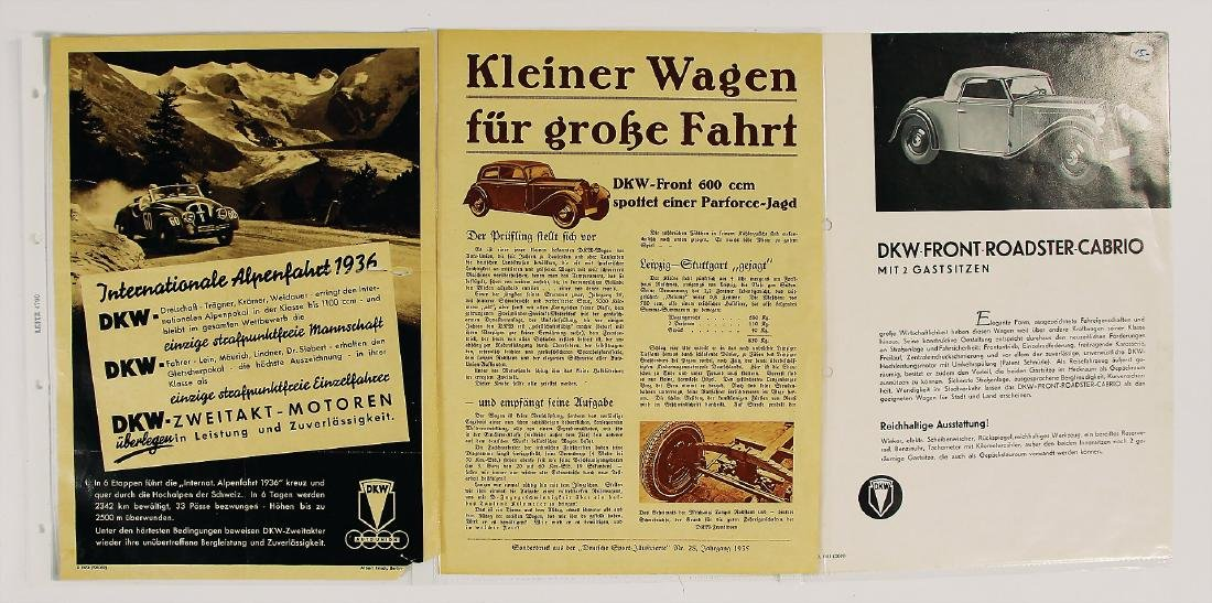 DKW/AUTO UNION mixed lot with 3 pieces, among it e.g.
