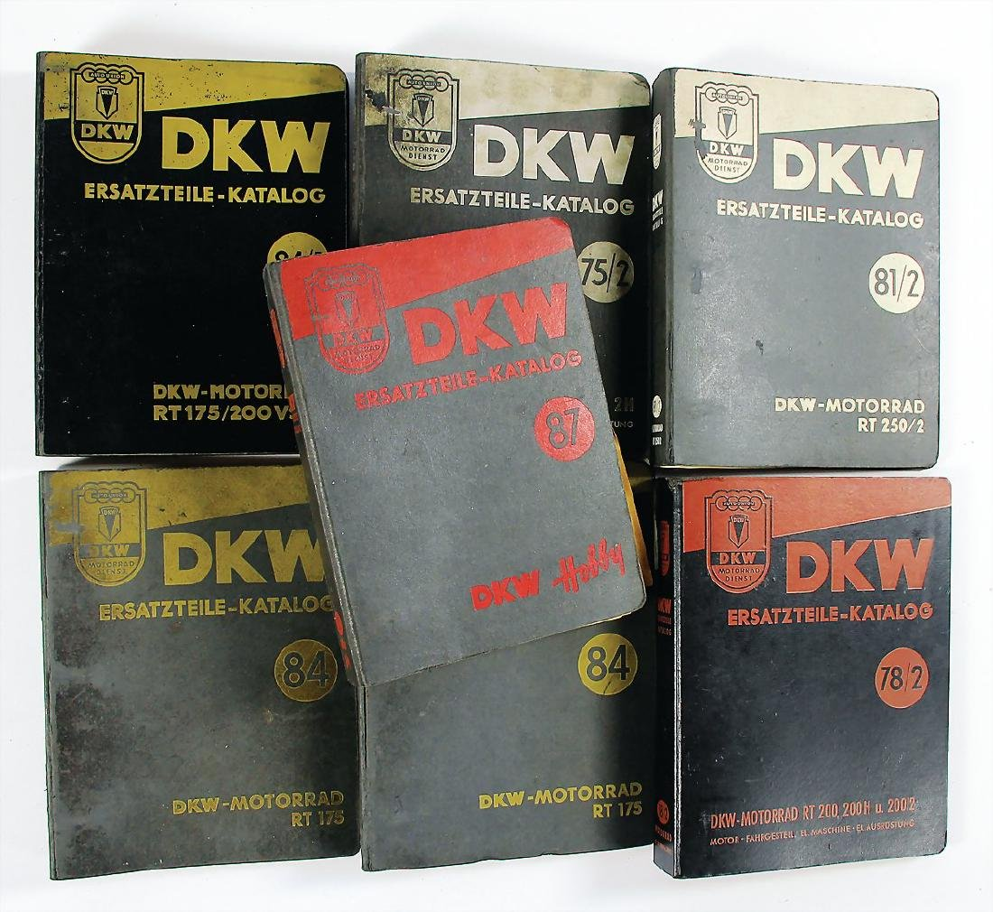 DKW mixed lot with 7 pieces, replacement parts