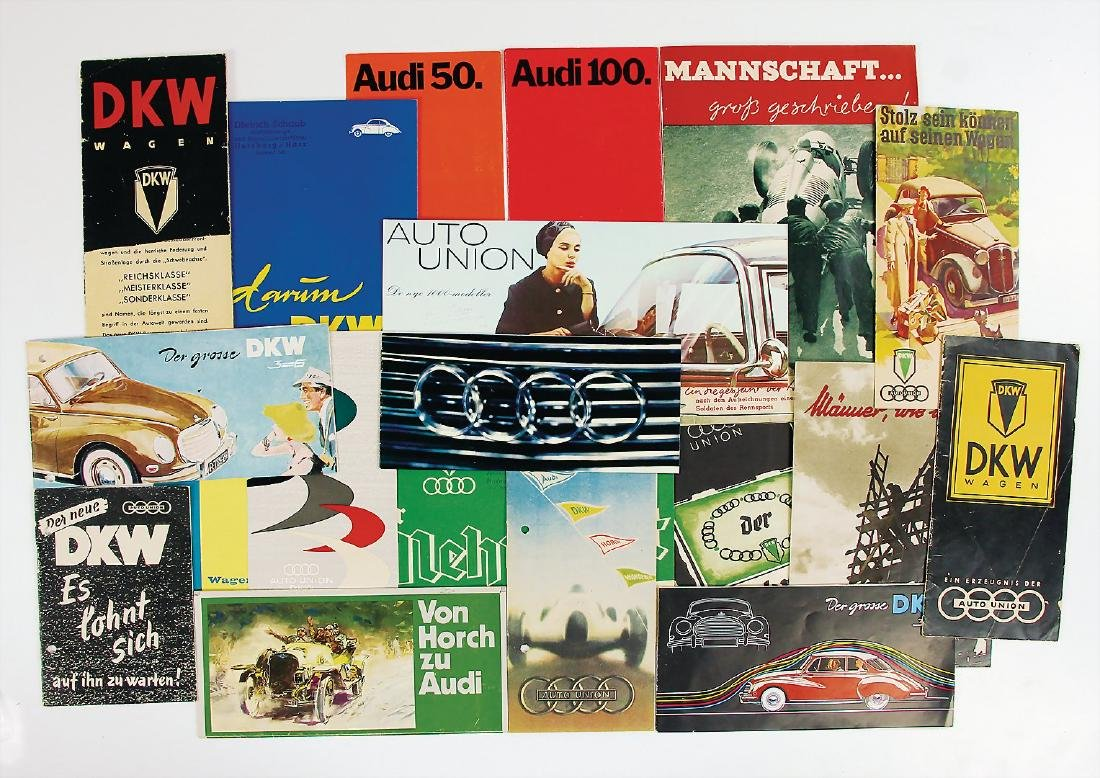 AUTO UNION/DKW mixed lot of 16 pieces, among it e.g.