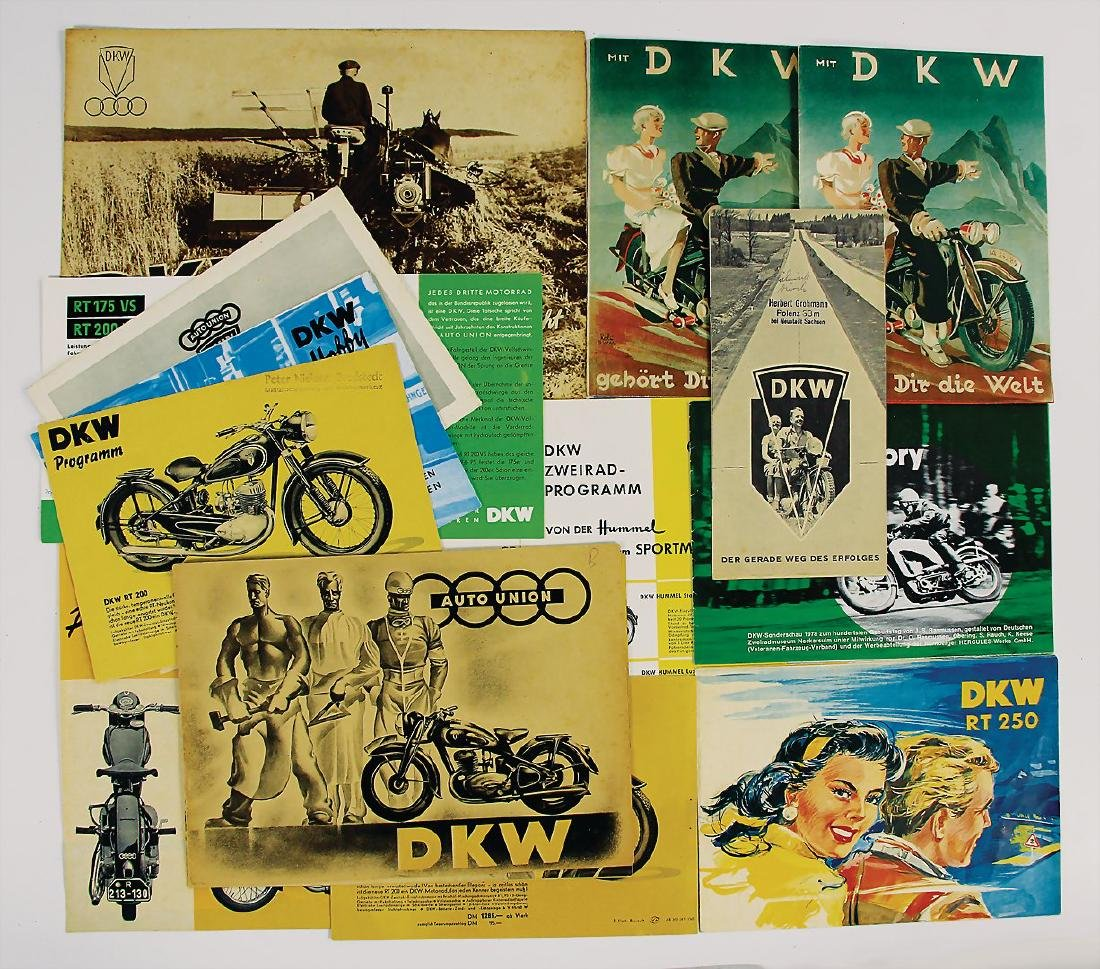AUTO UNION/DKW mixed lot with 13 pieces, sales