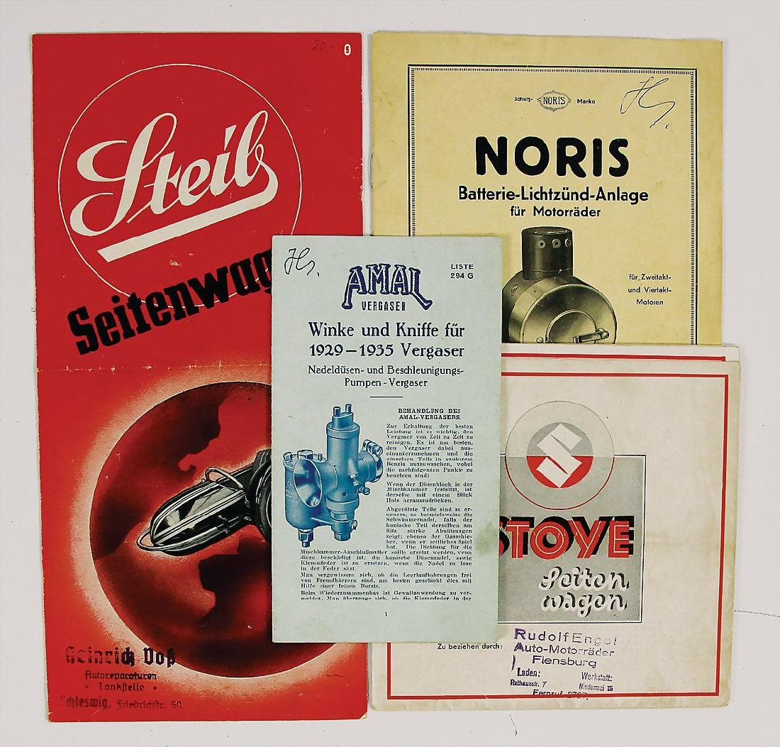 mixed lot with 4 pieces sales brochures, among it e.g.